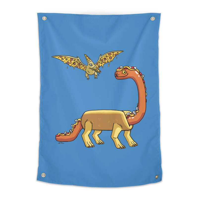 Brontodog and Pizzadactyl Home Tapestry by brianmcl's Artist Shop