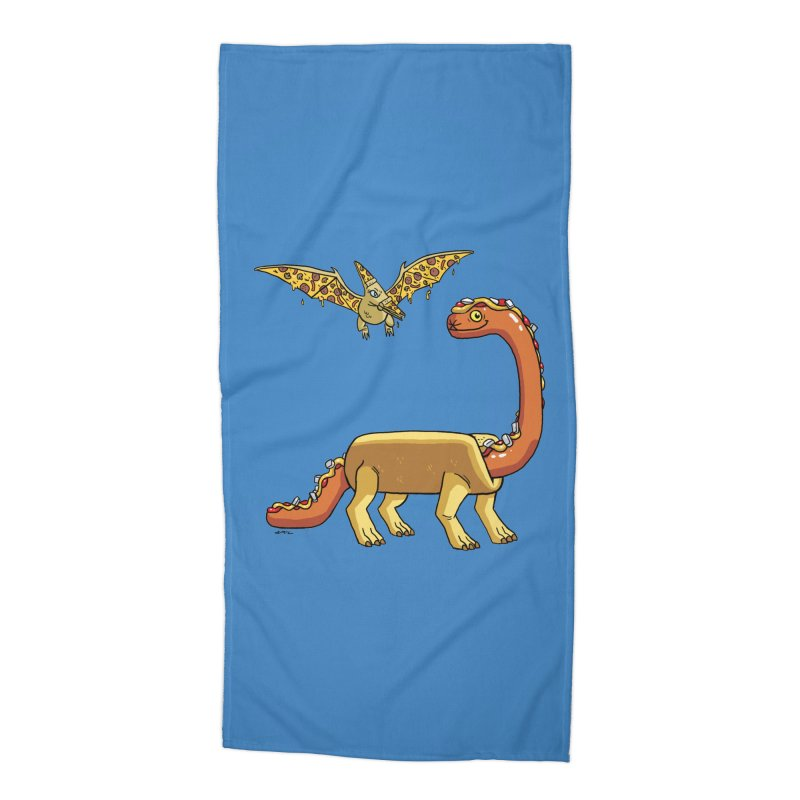 Brontodog and Pizzadactyl Accessories Beach Towel by brianmcl's Artist Shop