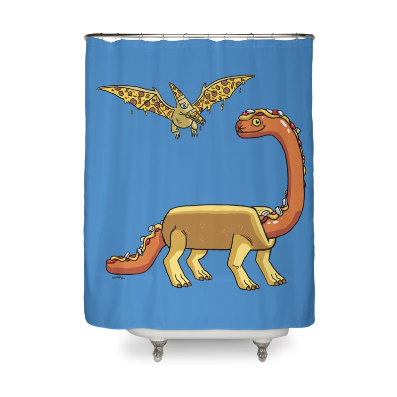 Brontodog and Pizzadactyl Home Shower Curtain by brianmcl's Artist Shop