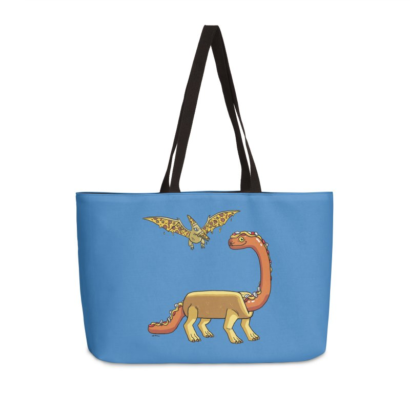 Brontodog and Pizzadactyl Accessories Weekender Bag Bag by brianmcl's Artist Shop