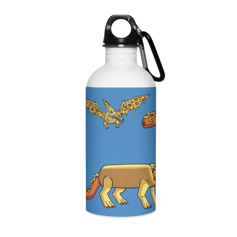 Brontodog and Pizzadactyl Accessories Water Bottle by brianmcl's Artist Shop