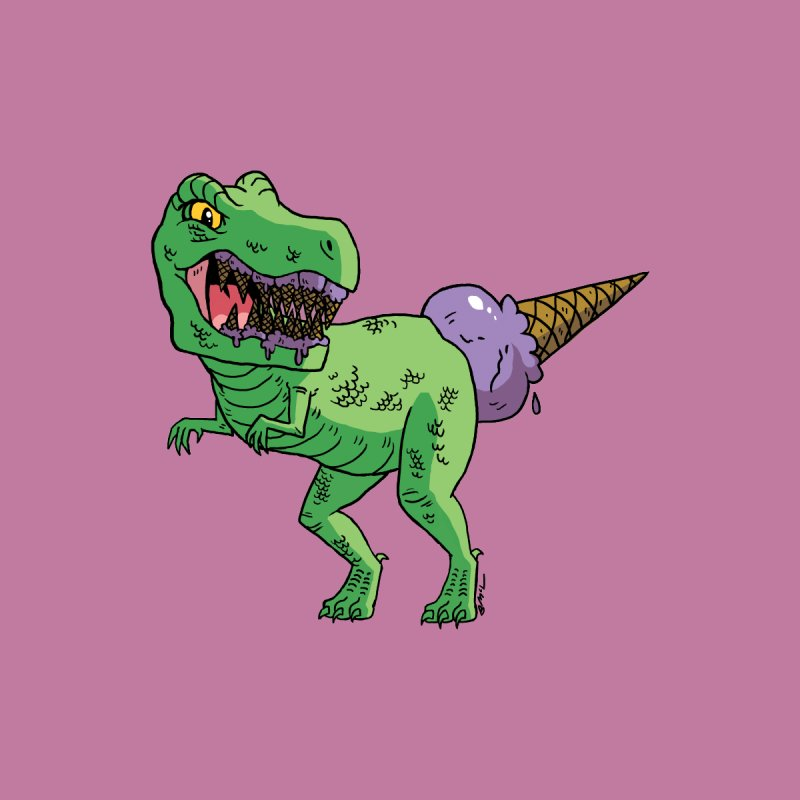 Ice Cream Rex   by brianmcl's Artist Shop