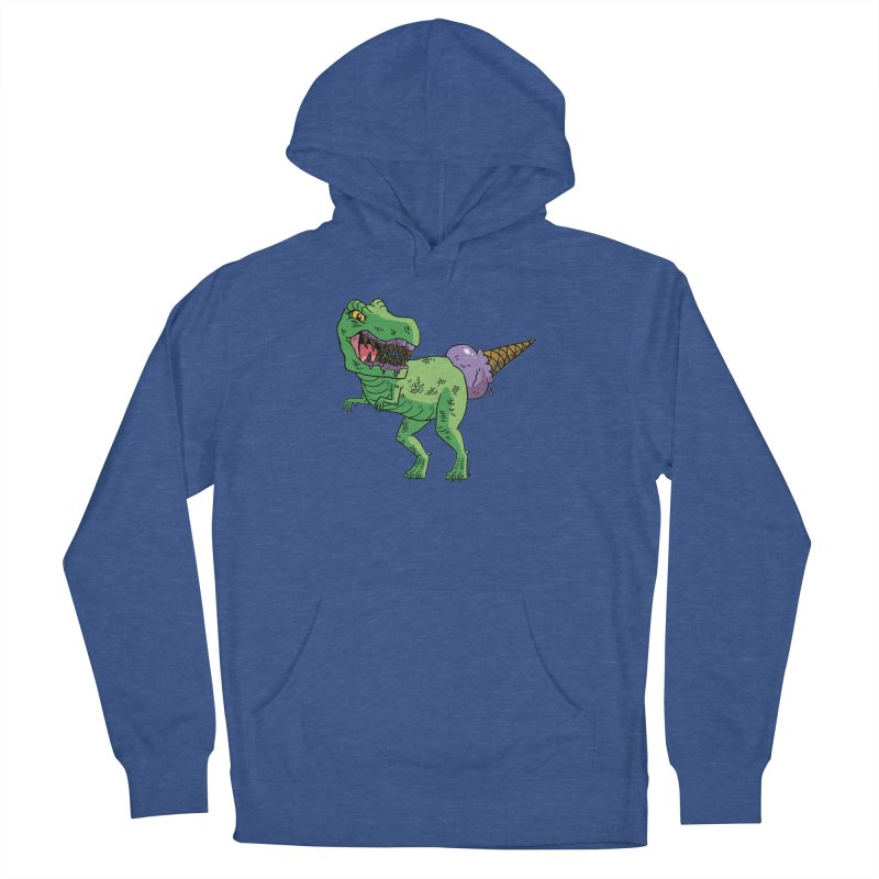 Ice Cream Rex Women's French Terry Pullover Hoody by brianmcl's Artist Shop