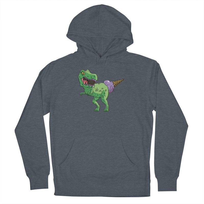 Ice Cream Rex Men's French Terry Pullover Hoody by brianmcl's Artist Shop