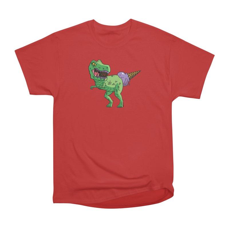 Ice Cream Rex Men's Heavyweight T-Shirt by brianmcl's Artist Shop