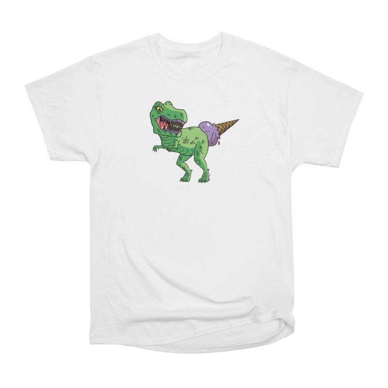 Ice Cream Rex Women's Heavyweight Unisex T-Shirt by brianmcl's Artist Shop