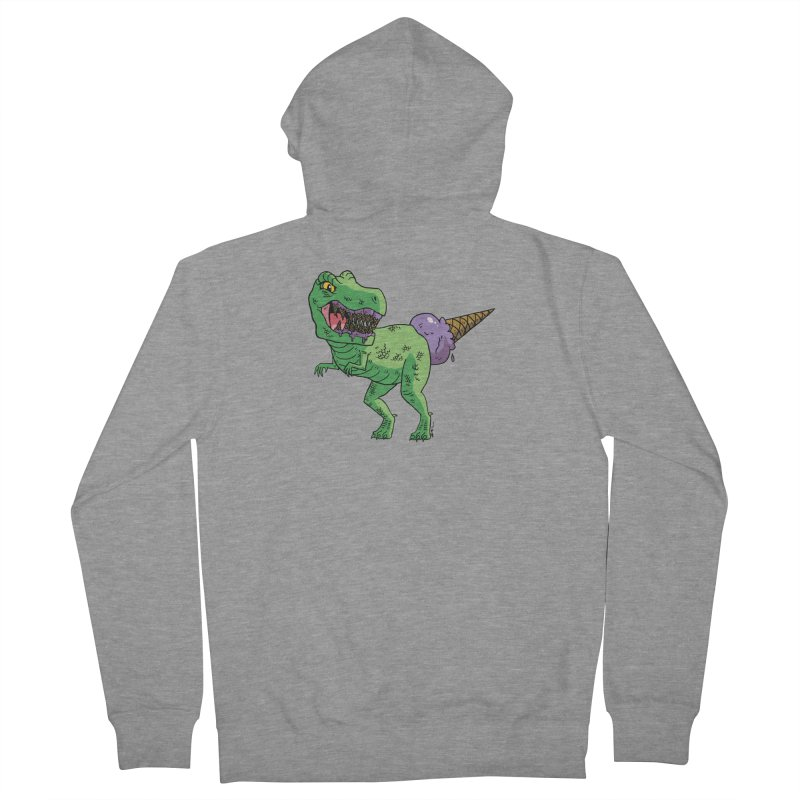Ice Cream Rex Women's French Terry Zip-Up Hoody by brianmcl's Artist Shop