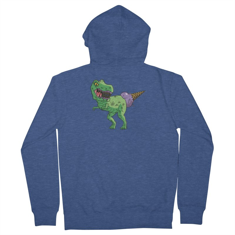 Ice Cream Rex Men's French Terry Zip-Up Hoody by brianmcl's Artist Shop