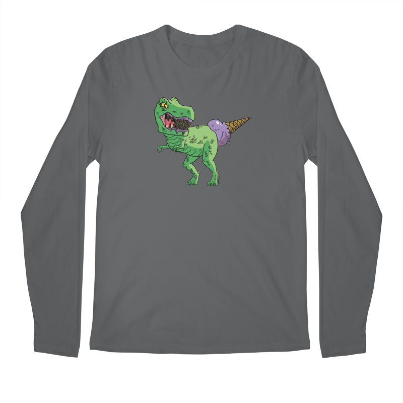 Ice Cream Rex Men's Longsleeve T-Shirt by brianmcl's Artist Shop