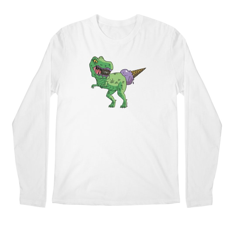 Ice Cream Rex Men's Regular Longsleeve T-Shirt by brianmcl's Artist Shop