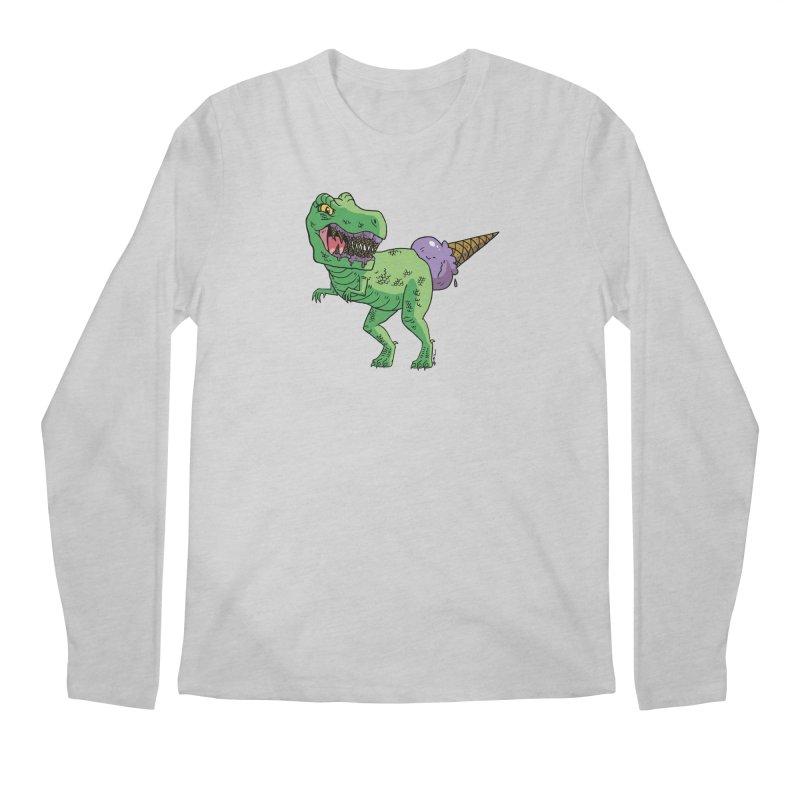 Ice Cream Rex Men's Regular Longsleeve T-Shirt by brianmcl's Artist Shop