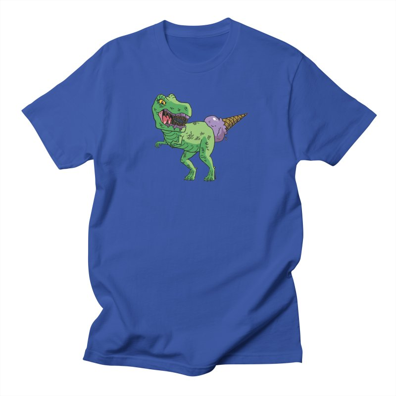 Ice Cream Rex Men's T-Shirt by brianmcl's Artist Shop