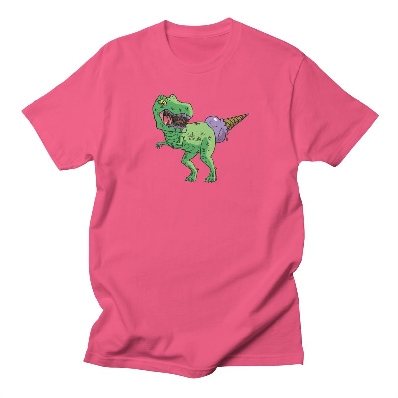 Ice Cream Rex Men's Regular T-Shirt by brianmcl's Artist Shop