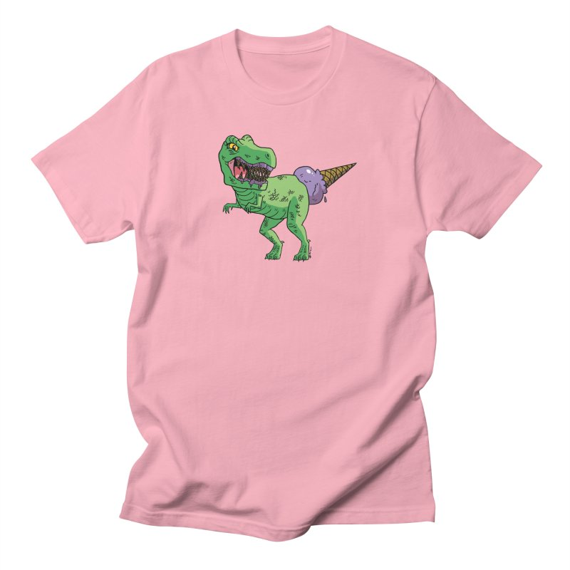 Ice Cream Rex Women's Regular Unisex T-Shirt by brianmcl's Artist Shop