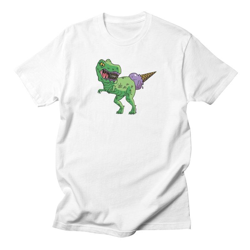 Ice Cream Rex Men's T-Shirt by brianmcl's Artist Shop