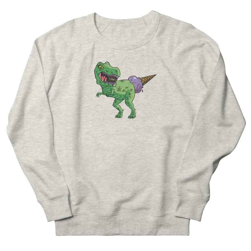 Ice Cream Rex Men's French Terry Sweatshirt by brianmcl's Artist Shop