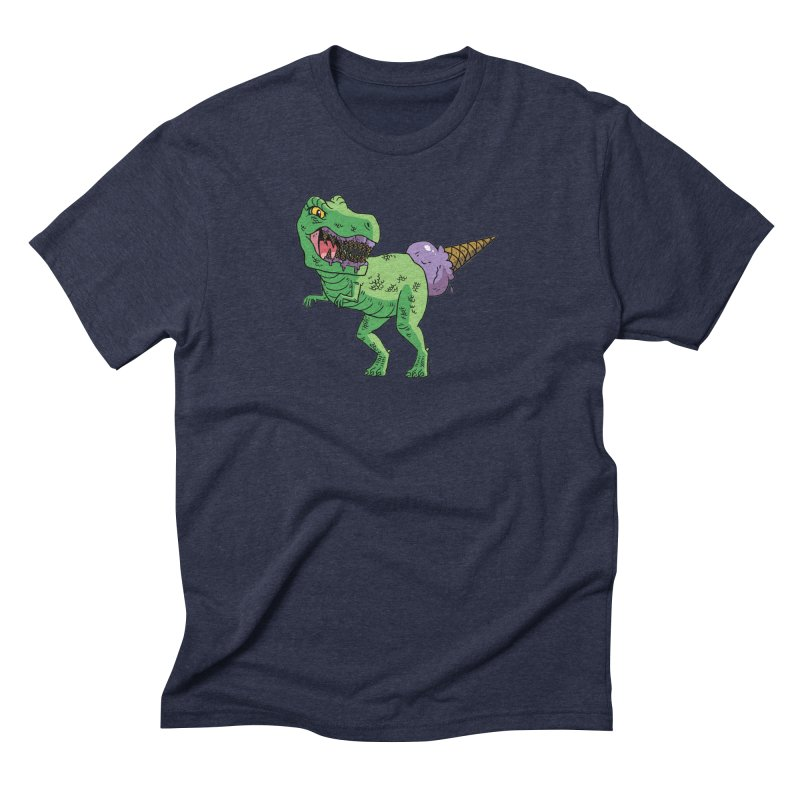 Ice Cream Rex Men's Triblend T-Shirt by brianmcl's Artist Shop