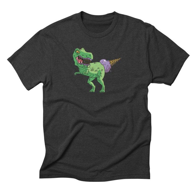 Ice Cream Rex Men's Triblend T-Shirt by brianmcl's Artist Shop