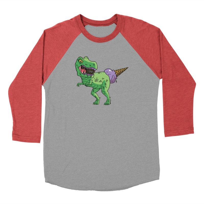 Ice Cream Rex Women's Baseball Triblend Longsleeve T-Shirt by brianmcl's Artist Shop