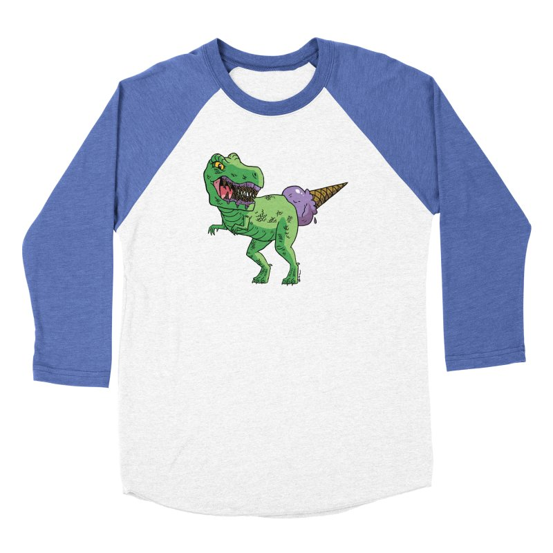 Ice Cream Rex Men's Baseball Triblend Longsleeve T-Shirt by brianmcl's Artist Shop
