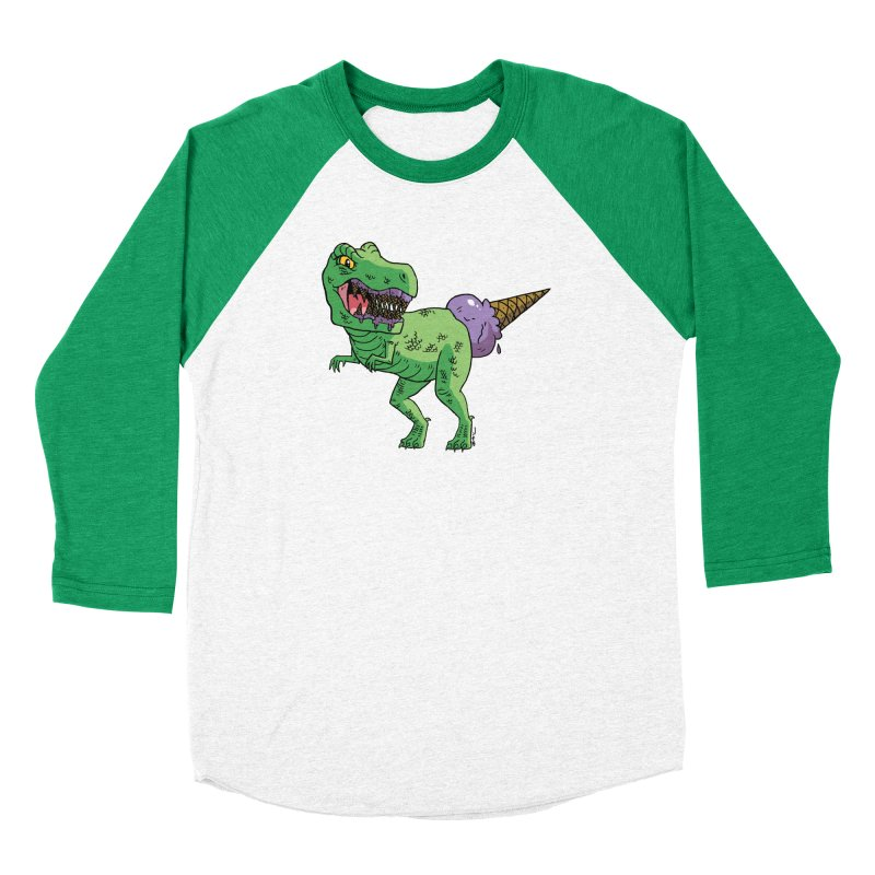 Ice Cream Rex Men's Baseball Triblend Longsleeve T-Shirt by brianmcl's Artist Shop