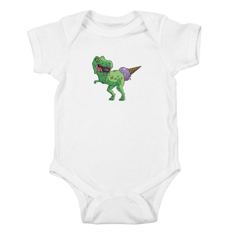 Ice Cream Rex Kids Baby Bodysuit by brianmcl's Artist Shop