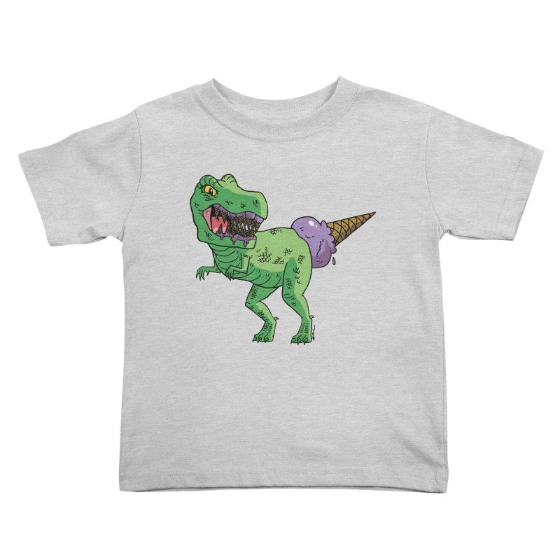 Ice Cream Rex Kids Toddler T-Shirt by brianmcl's Artist Shop