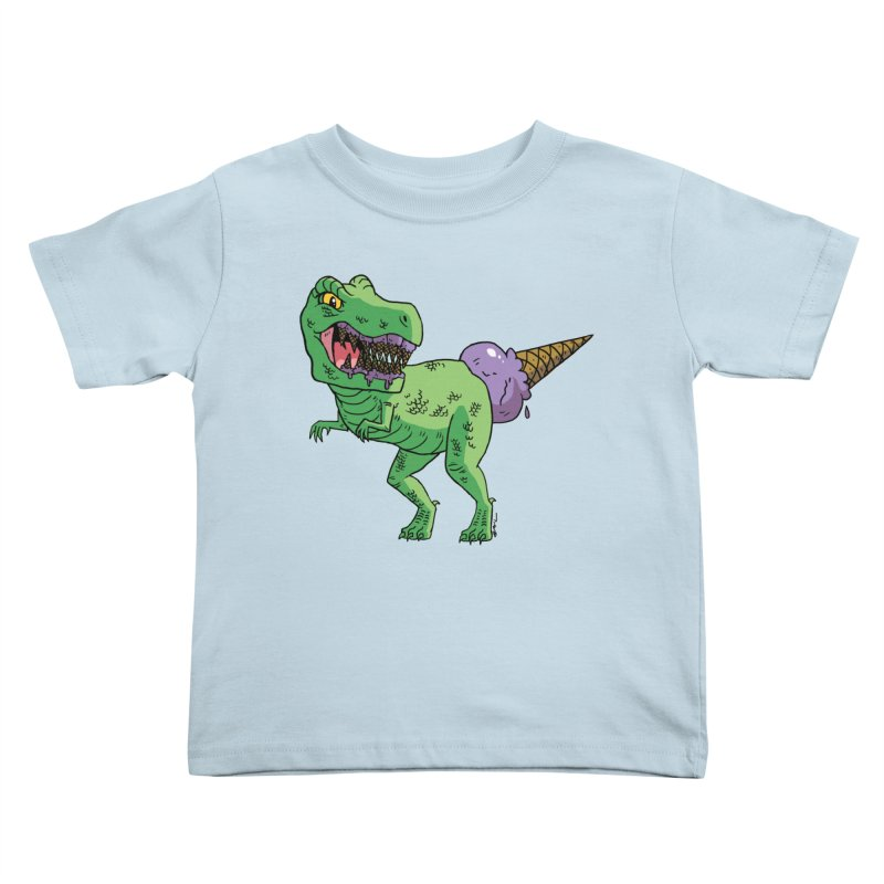 Ice Cream Rex Kids Toddler T-Shirt by brianmcl's Artist Shop