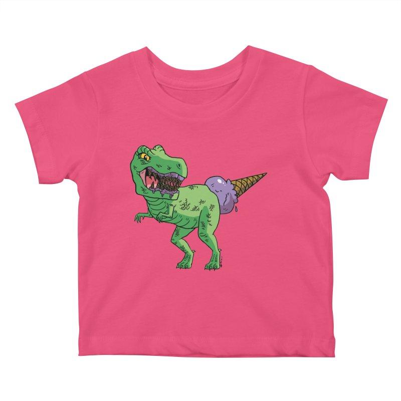 Ice Cream Rex Kids Baby T-Shirt by brianmcl's Artist Shop