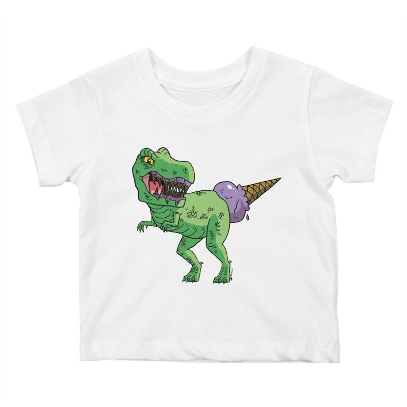 Ice Cream Rex Kids Baby T-Shirt by brianmcl's Artist Shop