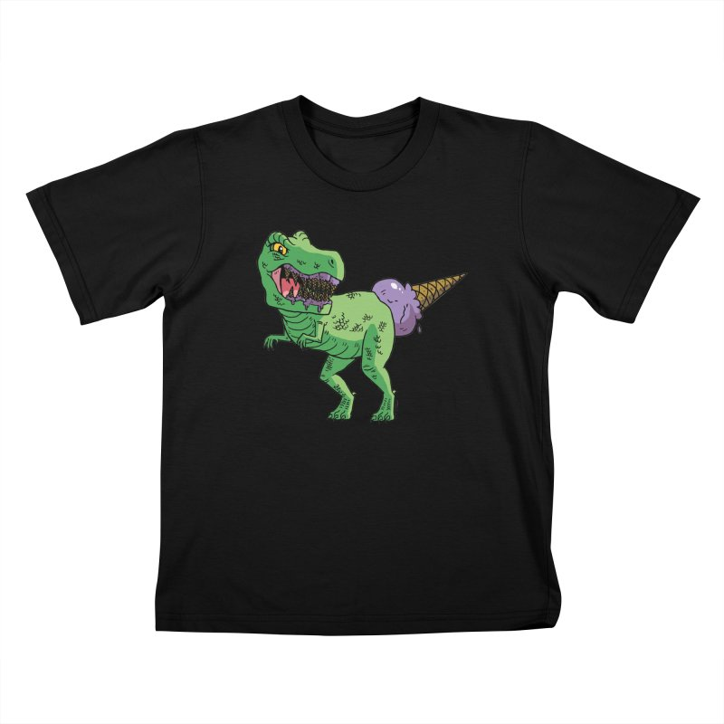 Ice Cream Rex Kids T-Shirt by brianmcl's Artist Shop