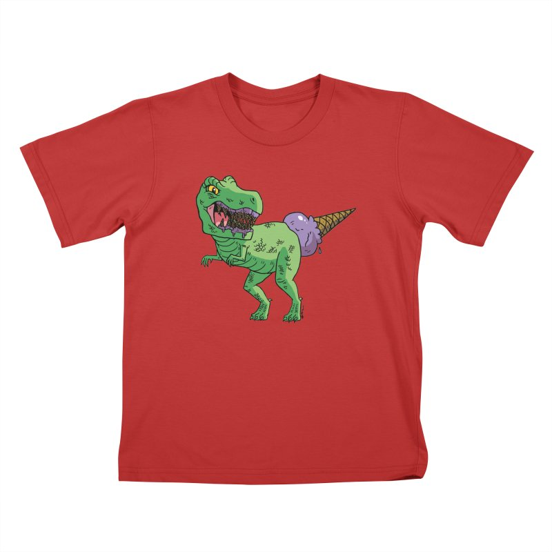 Ice Cream Rex Kids T-Shirt by brianmcl's Artist Shop