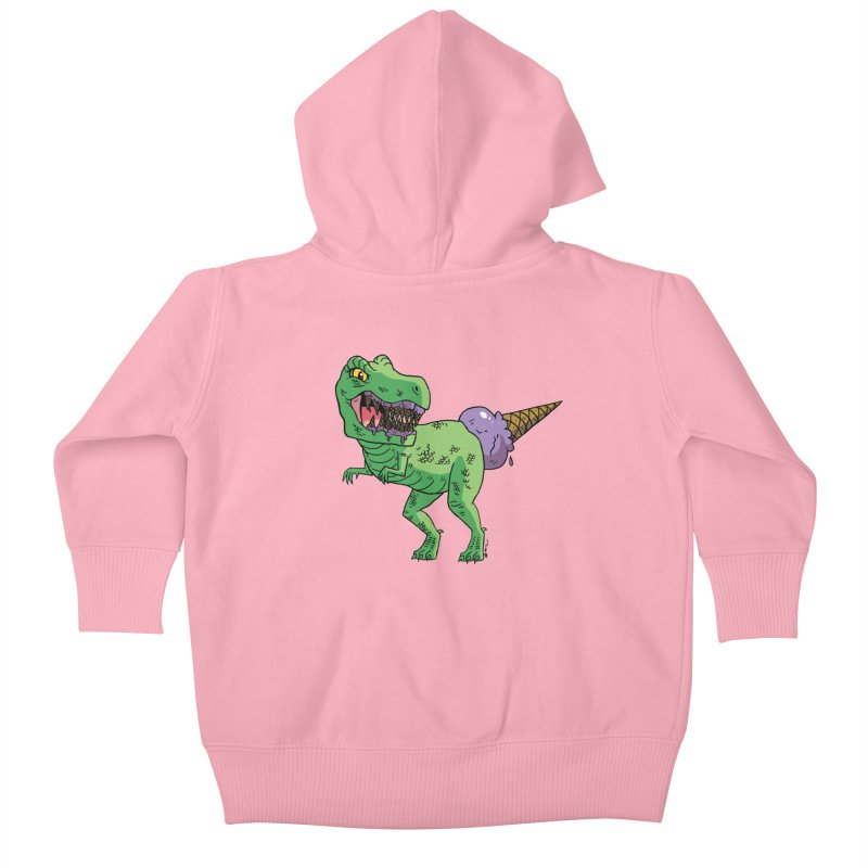 Ice Cream Rex Kids Baby Zip-Up Hoody by brianmcl's Artist Shop