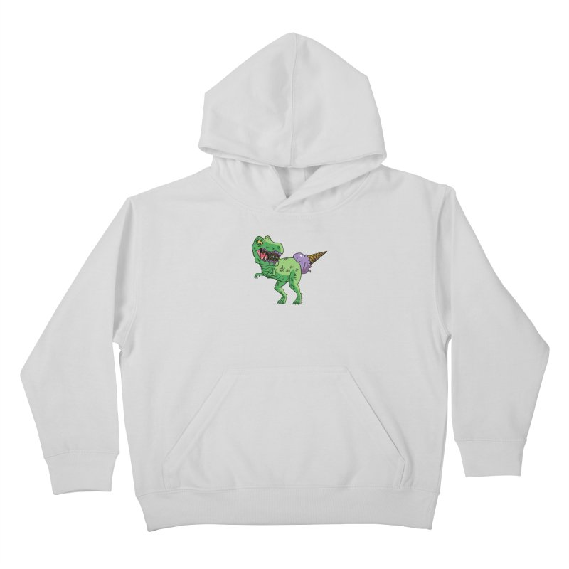 Ice Cream Rex Kids Pullover Hoody by brianmcl's Artist Shop