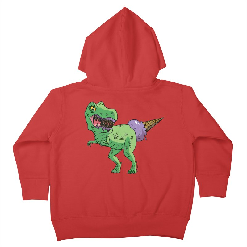 Ice Cream Rex Kids Toddler Zip-Up Hoody by brianmcl's Artist Shop