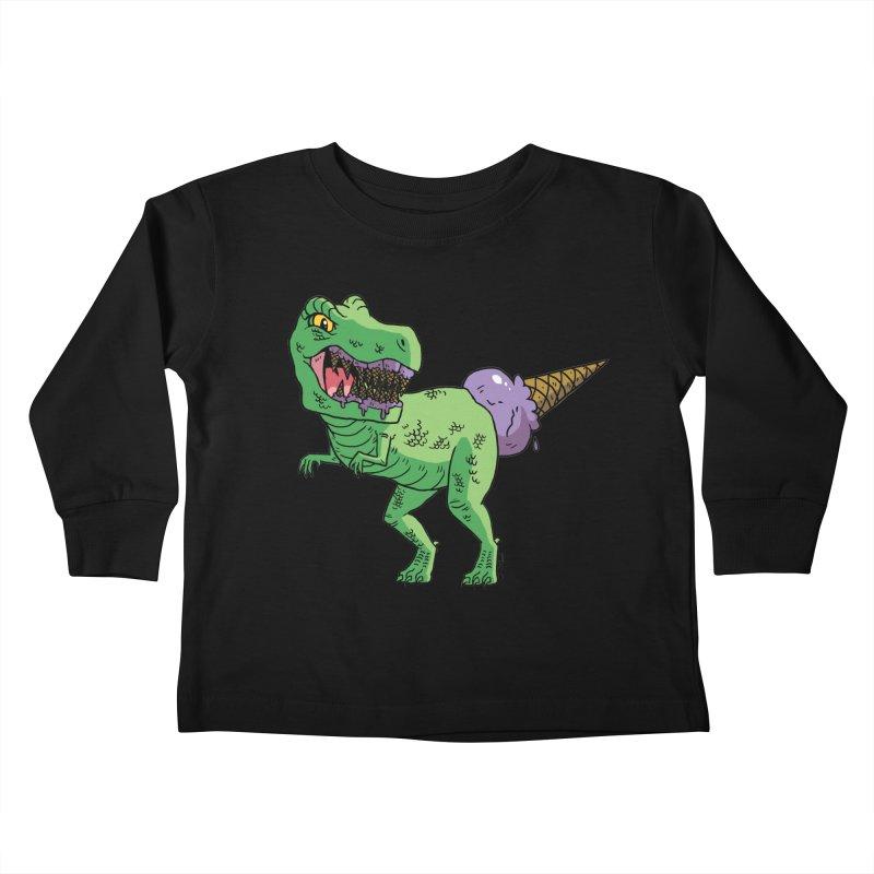 Ice Cream Rex Kids Toddler Longsleeve T-Shirt by brianmcl's Artist Shop