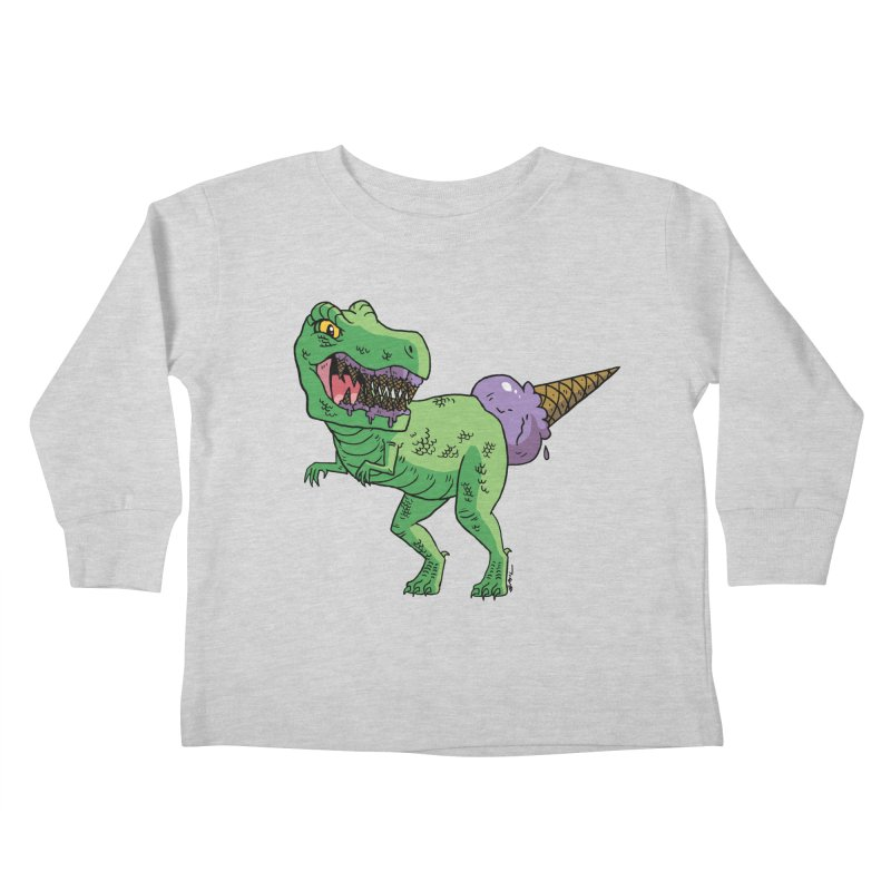 Ice Cream Rex Kids Toddler Longsleeve T-Shirt by brianmcl's Artist Shop