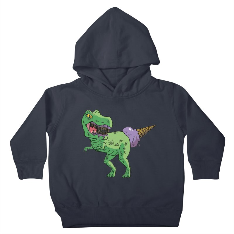 Ice Cream Rex Kids Toddler Pullover Hoody by brianmcl's Artist Shop