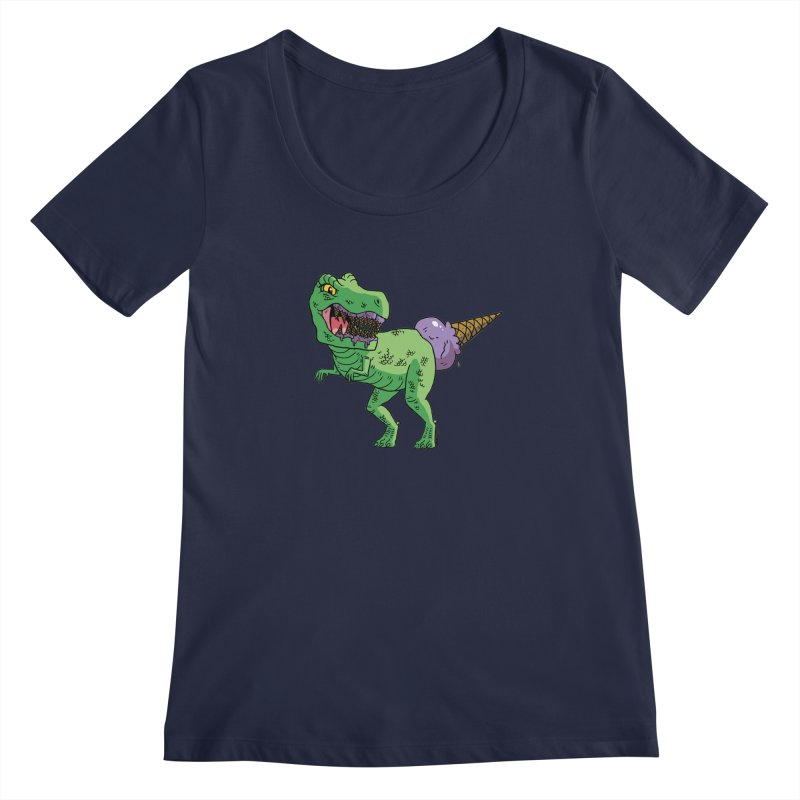 Ice Cream Rex Women's Regular Scoop Neck by brianmcl's Artist Shop
