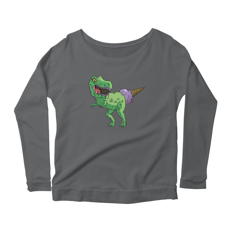 Ice Cream Rex Women's Longsleeve T-Shirt by brianmcl's Artist Shop