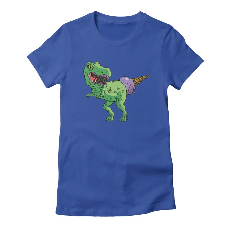 Ice Cream Rex Women's Fitted T-Shirt by brianmcl's Artist Shop