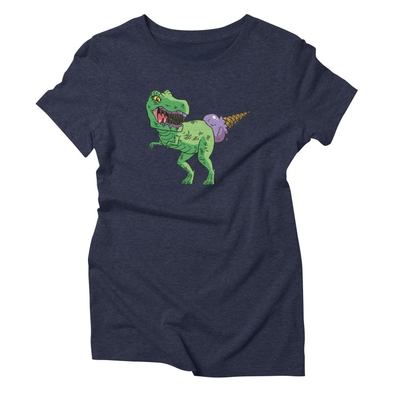 Ice Cream Rex Women's Triblend T-Shirt by brianmcl's Artist Shop