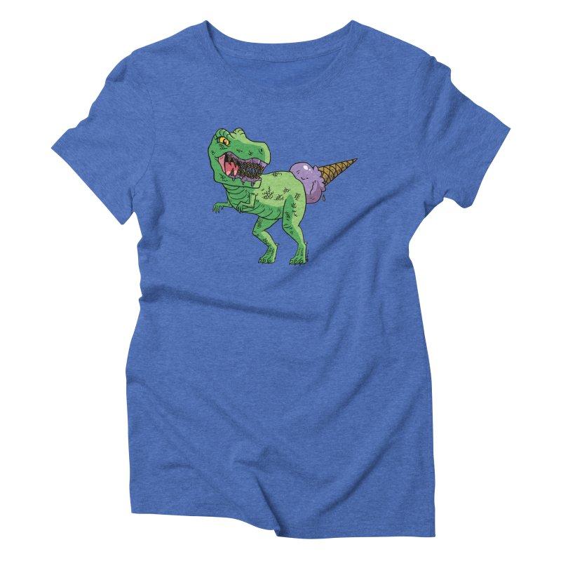 Ice Cream Rex Women's Triblend T-Shirt by brianmcl's Artist Shop