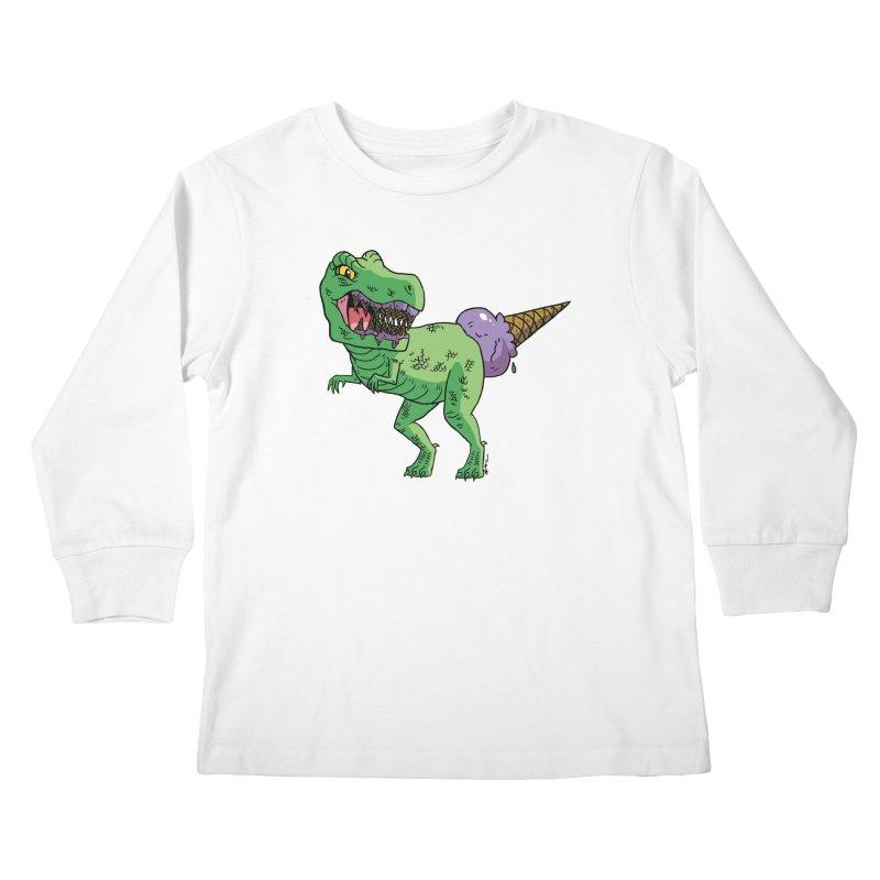 Ice Cream Rex Kids Longsleeve T-Shirt by brianmcl's Artist Shop