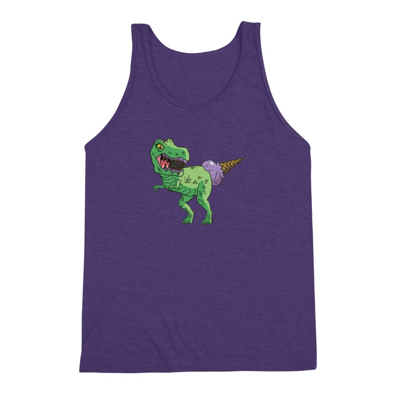 Ice Cream Rex Men's Triblend Tank by brianmcl's Artist Shop