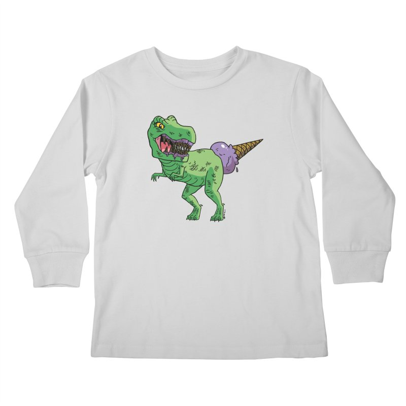 Ice Cream Rex Kids Longsleeve T-Shirt by brianmcl's Artist Shop