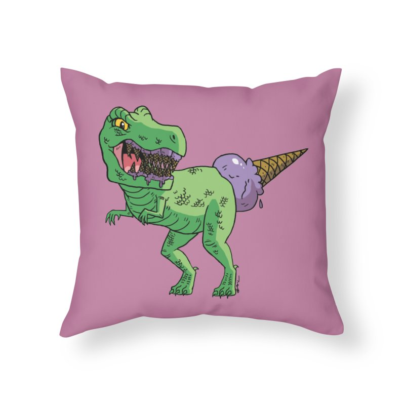 Ice Cream Rex Home Throw Pillow by brianmcl's Artist Shop