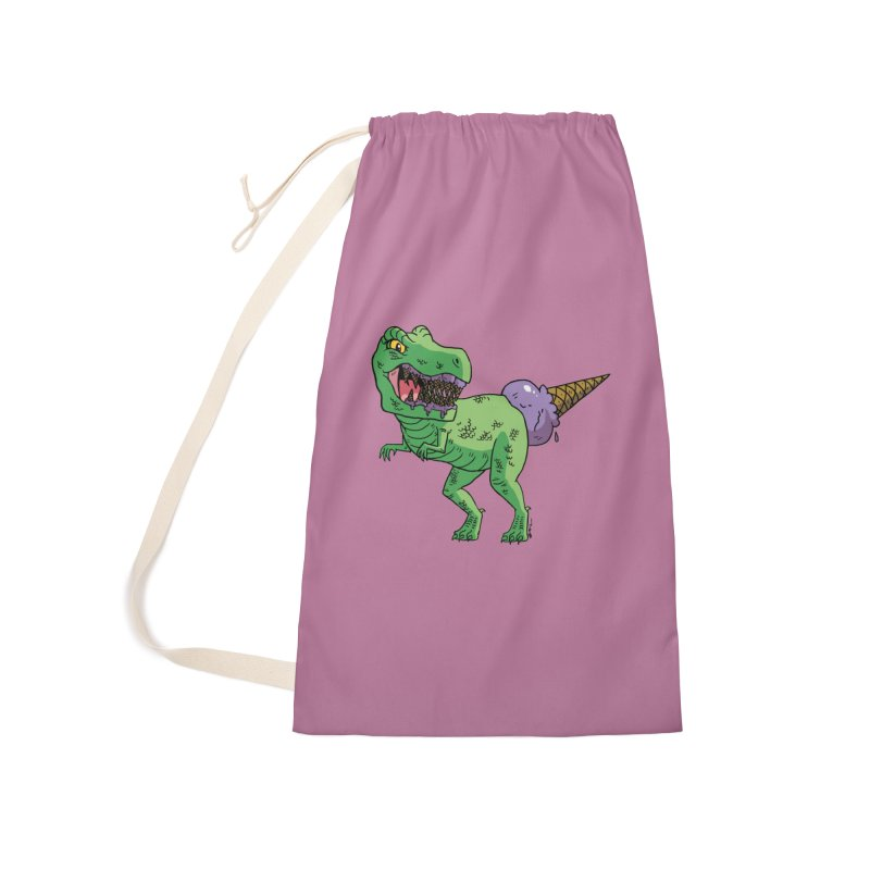 Ice Cream Rex Accessories Laundry Bag Bag by brianmcl's Artist Shop