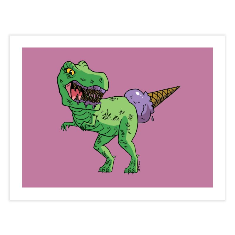 Ice Cream Rex Home Fine Art Print by brianmcl's Artist Shop