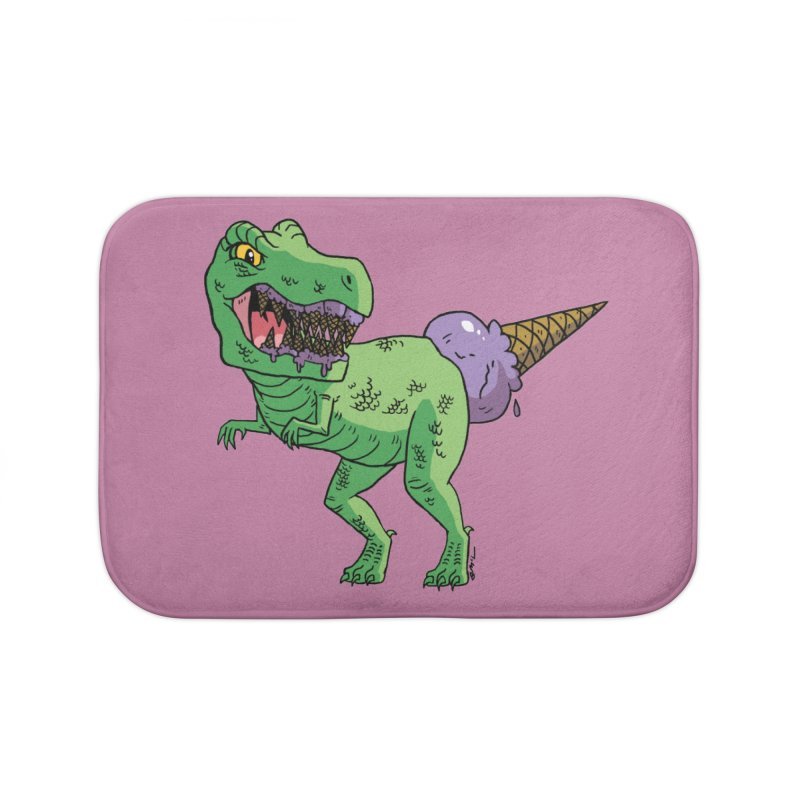 Ice Cream Rex Home Bath Mat by brianmcl's Artist Shop